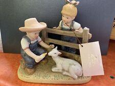 Denim Days Feeding The Goat #8807 Home Interiors Figurine 1985 Homco
