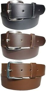 Mens Real Leather Belt 1.5 Inch Smart Trouser Belts Made In England S - XL