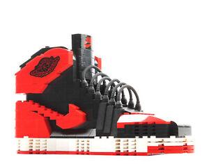 KM 3D AJ1 Bred/Banned SneakerLego New BIG LEGO Sneaker Air Jordan Shoes