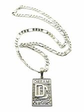 "ICED OUT DREAM CHASERS DC THE HOMIE MEEK MILL PENDANT W 24"" FIGARO CHAIN JSP014S"