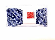 Frank Lloyd Wright GERMAN WHAREHOUSE FRIEZE Inspired Beautiful Silk BOWTIE Blue