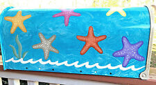 Hand Painted Mailbox FREE SHIPPING Post Mount Fun Colorful Starfish Beach