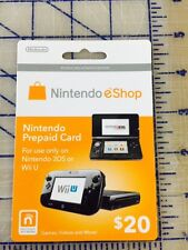 Nintendo eShop Prepaid Gamecard $20  Nintendo Switch/3DS/WiiU/Wii NEW!