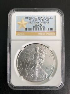 2015- W -$1 FIRST DAY OF ISSUE NGC-MS-70  RARE