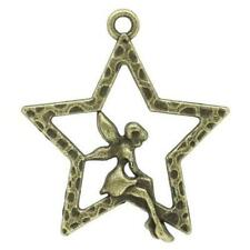 Fairy Charm/Pendant Tibetan Steampunk Antique Bronze 28mm  15 Charms Accessory