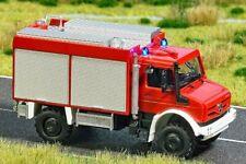 Busch 50910 Mercedes Unimog u430 con rejilla y grúa