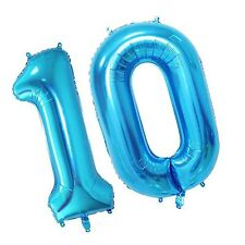 Tellpet Blue Number 10 Balloon,40 Inch blue 10