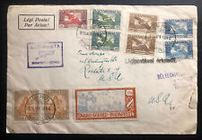1925 Budapest Hungary First Flight Early Airmail cover To Rochester NY Usa