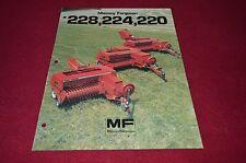 Massey Ferguson 220 224 228 Baler Dealer's Brochure DCPA2