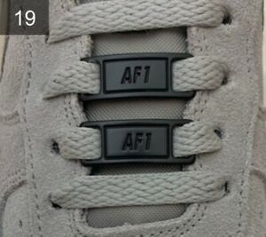 ❤️ Neue Nike Air Force 1 Schnallen Lace Locks Buckles Schwarz 2 Stück✅