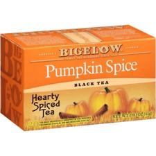 Bigelow Pumpkin Spice Black Tea Bags, 20 Ct, 1.6 Oz (2 Count)