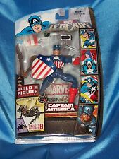 "CAPTAIN AMERICA:MARVEL LEGENDS, 2007, 5.5"", ""Build A Figure"", New On Card"
