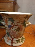 Chinese  Champagne  Ice Bucket,  Wine Holder, Grapevine  Embellished, Vintage