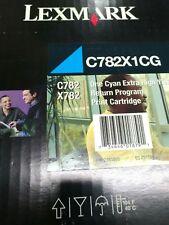 original Lexmark Cartouche d'encre C782X1CG bleu