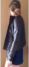 Lady Hollister jacket Faux brown leather Size M NEW