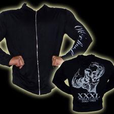 Explosive Fibres Black Long Sleeved Full Zip Hoodie:XX- Large