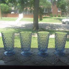 Four (4) light blue Indiana WHITEHALL/Cubist footed ice tea