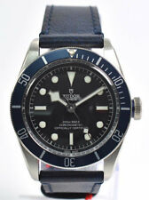 Tudor Heritage Black Bay Blue Disc Blue Leather Automatic Men Watch 79230B