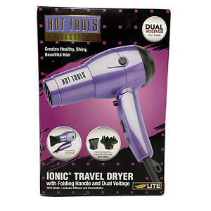 HOT TOOLS Professional Ionic Travel Dryer Dual Voltage 1875 Watts Light HT1044
