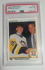 1990-91 UPPER DECK JAROMIR JAGR #356 - RC ROOKIE CARD - PSA 8 GRADED