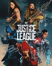 Justice League In-person AUTHENTIC Autographed Cast Photo by 5 COA SHA #32574