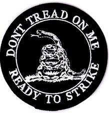 DONT TREAD ON ME - READY TO STRIKE - GADSEN - IRON or SEW ON PATCH