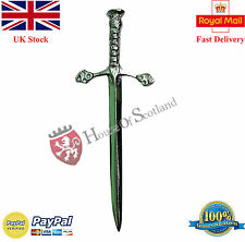 """New Scottish Thistle Hilt Sword Kilt Pin Chrome Finish 3.5""""/Celtic Kilt Pins"""