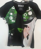 Wicked Wear Broadway Show Musical V-neck Black Short Sleeve Women's Large shirt