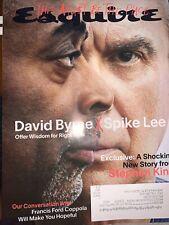 Esquire Magazine October November 2020 David Byrne x Spike Lee Stephen King
