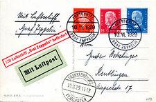 Graf Zeppelin  LZ 127 Real Photo Postcard. Sieger 49B Flight to Frankfurt