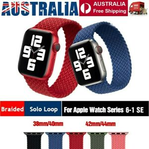 Nylon Braided Solo Loop Strap Band For Apple Watch Series 6 SE 5 4 3 2 40 / 44mm