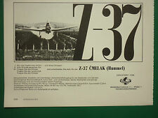 5/1973 PUB OMNIPOL AVION AGRICOLE Z-37 BOURDON BUMBLE BEE AIRCRAFT GERMAN ADVERT