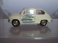 DINKY TOYS FRANCE FIAT 600 RALLYE CAR PAINT OFF DRIVERS DOOR SEE THE PICTURES