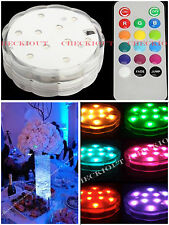 1 RGB 10 LED Submersible Waterproof Wedding Party Vase Base Floral Remote Light