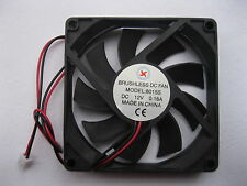 1 pcs Brushless DC Cooling Fan 9 Blade 12V 8015S 80x80x15mm 2wire Sleeve Bearing