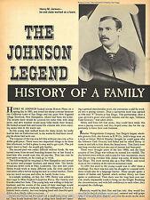 Johnson Family Legend of Jamul - Campo, California