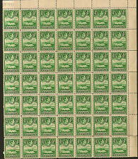ANTIGUA : 1951 1/2d green SG 98 unmounted mint block of 49 stamps ,dated JUN1951