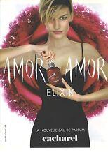 PUBLICITE ADVERTISING  2010  CACHAREL eau de parfum AMOR AMOR