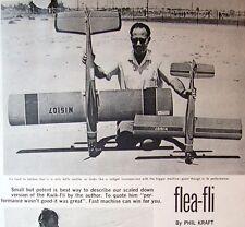 "Vintage FLEA-FLI 39"" RC PLAN + Construction Article for Building Model Airplane"