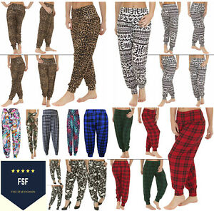 Womens Full Length HAREEM ALI BABA Pants Ladies Baggy Printed Trouser Plus Size