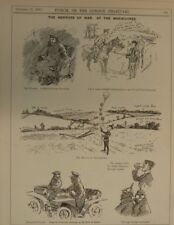 "7x10"" punch cartoon 1903 THE HORRORS OF WAR at the manoevres"
