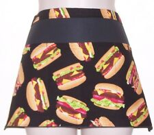 Hamburger black waitress server waiter waist apron 3 pockets