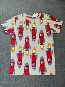 NEXT Multicoloured Rocket Print T-Shirt Top Space Age 3-4 4-5 5-6 Years NEW