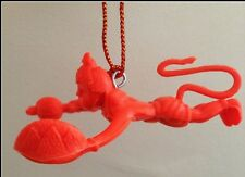 Flying Lord Hanuman Hanging Idol For Car Orange Hindu God for Power & Protection