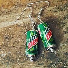 Unique MOUNTAIN DEW EARRINGS handcrafted MINIATURE drink SODA pop MTN cool