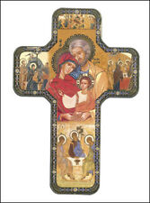 THE HOLY FAMILY MARY JOSEPH JESUS WOODEN CROSS - STATUES CANDLES PICTURES LISTED