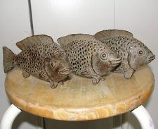 AFRICAN ASHANTI AKAN BRONZE DESK FISH BENIN SENUFO IVORY COAST GOLDWEIGHT STATUE