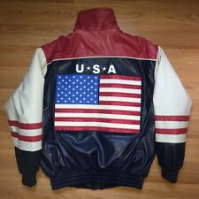 Steve & Barry's USA embroidered red / white / blue men's jacket adult Medium
