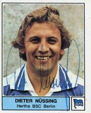 Ungeklebtes Panini-Bild 1979 mit Autogramm: DIETER NÜSSING (Hertha BSC) #1
