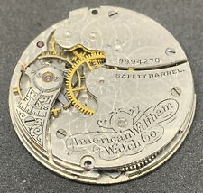 Waltham Pocket Watch Movement Seaside 1891 Openface 0s 7j Parts Vintage F2858